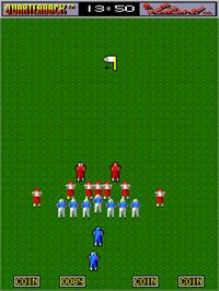 In game image of All American Football on the Arcade.