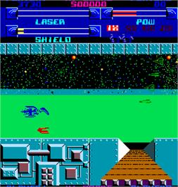 In game image of Alpha One on the Arcade.