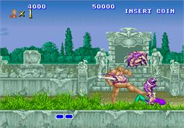 In game image of Altered Beast on the Arcade.