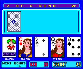 In game image of American Poker 95 on the Arcade.