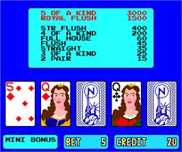 In game image of American Poker II on the Arcade.