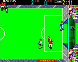 In game image of American Soccer on the Arcade.