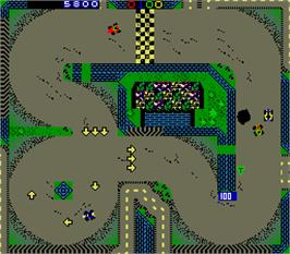 In game image of American Speedway on the Arcade.