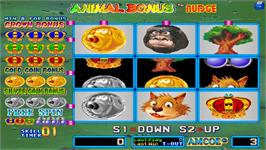 In game image of Animal Bonus Nudge on the Arcade.