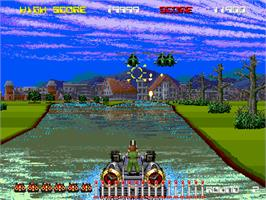 In game image of Aqua Jack on the Arcade.