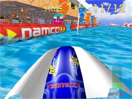 In game image of Aqua Jet on the Arcade.