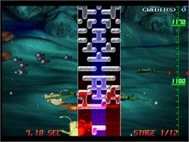 In game image of Aqua Rush on the Arcade.
