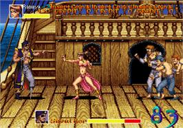 In game image of Arabian Fight on the Arcade.
