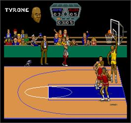 In game image of Arch Rivals on the Arcade.