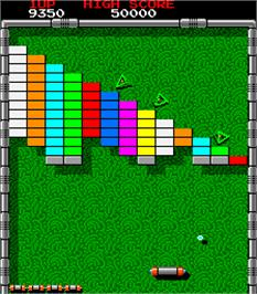 In game image of Arkanoid on the Arcade.