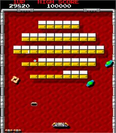 In game image of Arkanoid - Revenge of DOH on the Arcade.