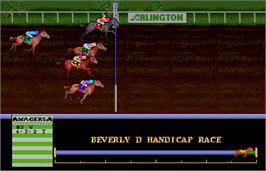In game image of Arlington Horse Racing on the Arcade.