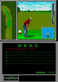 In game image of Arnold Palmer Tournament Golf on the Arcade.