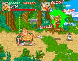 In game image of Asterix on the Arcade.
