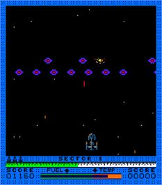 In game image of Astro Blaster on the Arcade.