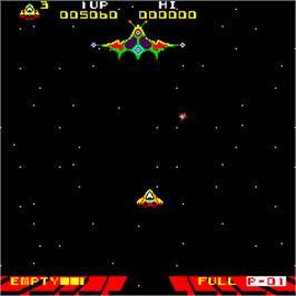 In game image of Astro Fantasia on the Arcade.