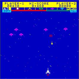 In game image of Astro Fighter on the Arcade.