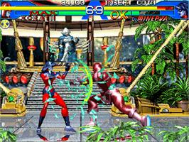 In game image of Avengers In Galactic Storm on the Arcade.