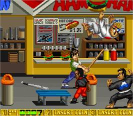 In game image of B.Rap Boys Special on the Arcade.