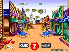 In game image of Bang! on the Arcade.