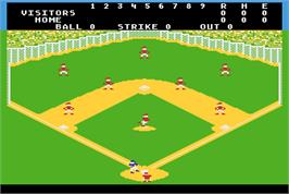 In game image of Barroom Baseball on the Arcade.