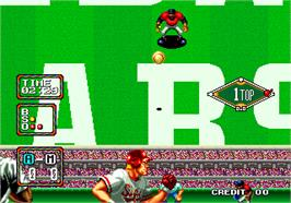In game image of Baseball Stars 2 on the Arcade.