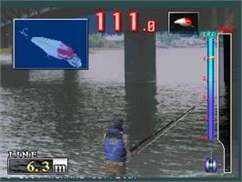 In game image of Bass Angler on the Arcade.