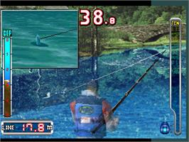 In game image of Bass Angler 2 on the Arcade.