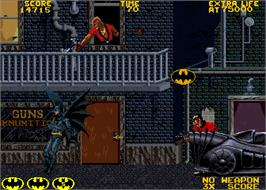 In game image of Batman on the Arcade.