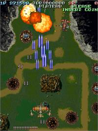 In game image of Battle Garegga - New Version on the Arcade.