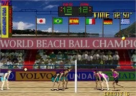 In game image of Beach Festival World Championship 1997 on the Arcade.