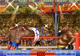 In game image of Best Bout Boxing on the Arcade.