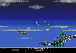 In game image of Bio-hazard Battle on the Arcade.