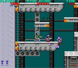 In game image of Bionic Commando on the Arcade.