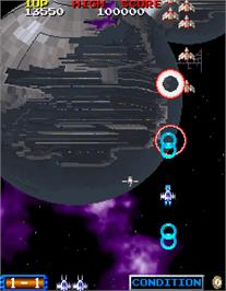 In game image of Blast Off on the Arcade.