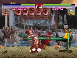 In game image of Blood Warrior on the Arcade.