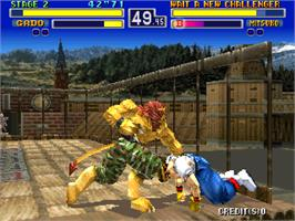 In game image of Bloody Roar on the Arcade.