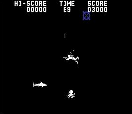 In game image of Blue Shark on the Arcade.