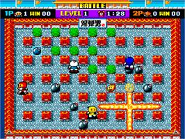 In game image of Bomber Man on the Arcade.