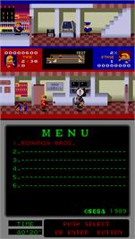 In game image of Bonanza Bros. on the Arcade.