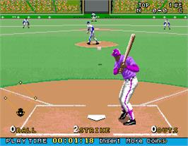 In game image of Bottom of the Ninth on the Arcade.