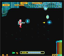 In game image of Brain on the Arcade.