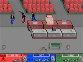 In game image of Brute Force on the Arcade.