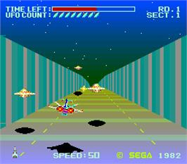 In game image of Buck Rogers: Planet of Zoom on the Arcade.