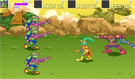 In game image of Bucky O'Hare on the Arcade.