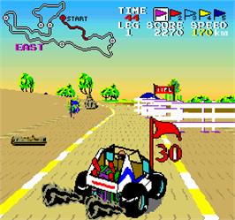 In game image of Buggy Boy Junior/Speed Buggy on the Arcade.