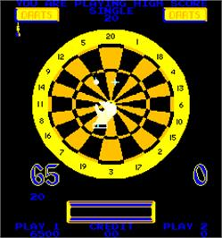 In game image of Bulls Eye Darts on the Arcade.