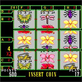 In game image of Butterfly Video Game on the Arcade.