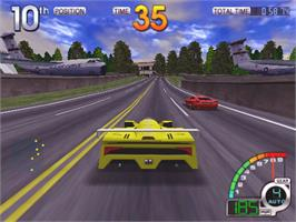 In game image of California Speed on the Arcade.
