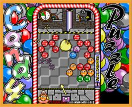 In game image of Candy Puzzle on the Arcade.